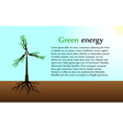 The concept of green energy vector image