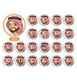 the second set of saudi arab man cartoon character vector image vector image