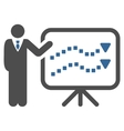 Trends Lecture Toolbar Icon vector image