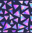 triangle holographic geometric seamless pattern vector image vector image