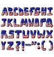 usa alphabet vector image vector image