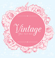 vintage card with peonies vector image vector image