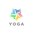 yoga logo designs vector image