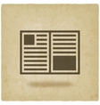 open book symbol old background vector image