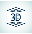 3d print icon vector image vector image