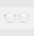 3d realistic plastic round white rimmed eye vector image vector image