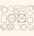 assorted vintage frames vector image vector image