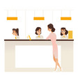 banking service office concept girl at reception vector image