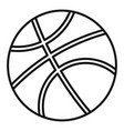 Basketball ball icon outline style