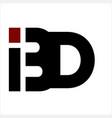 bd ibd bid initials company logo vector image vector image