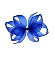 Blue Transparent Bow Isolated on White Background vector image vector image