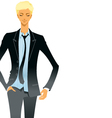 business man in suit vector image