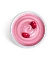 cherry yogurt top view vector image vector image