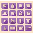 Child and baby care center flat icons with shadow vector image vector image