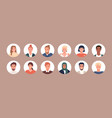 circle avatars with young people s faces vector image