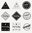 collection vintage retro label set 9 vector image