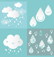 colorful drops rain pattern kids vector image vector image