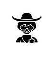 cowboy black icon sign on isolated vector image