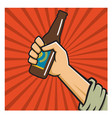craft beer revolution badge or label design vector image vector image
