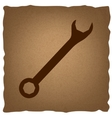 Crossed wrenches sign vector image vector image