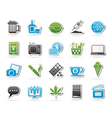 different types of Addictions icons vector image