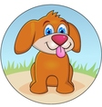dog cartoon vector image vector image