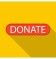 Donate icon flat style vector image vector image