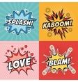 explosions pop art comic design vector image