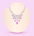female necklace with pink vector image vector image
