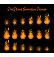 Fire flame animation for fire trap vector image vector image