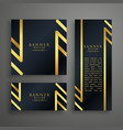 golden premium invitation card design template vector image vector image