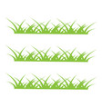 grass icon design template vector image vector image