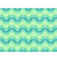 Green dotted waves seamless pattern vector image vector image