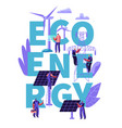 green eco alternative clean energy concept ecology vector image vector image