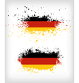 Grunge german ink splattered flag vector image vector image