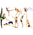 gymnastics vector image vector image