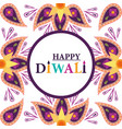 happy diwali festival traditional mandala flowers vector image vector image