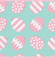happy easter painting egg shell set pink color vector image