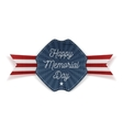 Happy Memorial Day greeting Emblem with Text vector image
