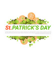 happy st patricks day background with golden vector image