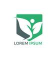 health human logo design green life logo vector image vector image
