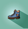 hiking boot flat for web vector image
