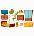 home furniture isolated trendy furnitures vector image vector image