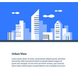 horizontal cityscape urban area downtown vector image