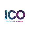 ico initial coin offering background blockchain vector image