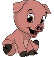 Little funny pig vector image vector image