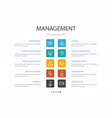 management infographic 10 option concept manager vector image vector image