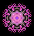 mandala abstract purple vector image vector image