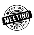 meeting rubber stamp vector image vector image