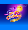merry christmas design a vector image vector image